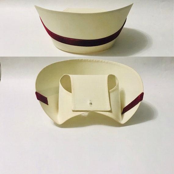 Vintage Nurse Cap, WWII Nurse Hat, 1950s 60s Mid C