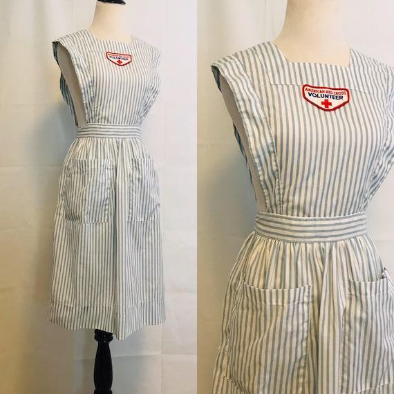 Vintage Volunteer Red Cross Pinafore Dress Vintage
