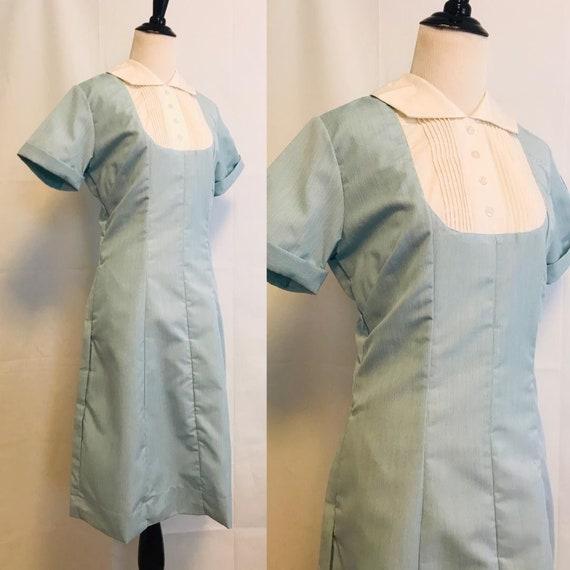 Vintage Nurses Dress 1950s Nurse Dress Uniform Blu