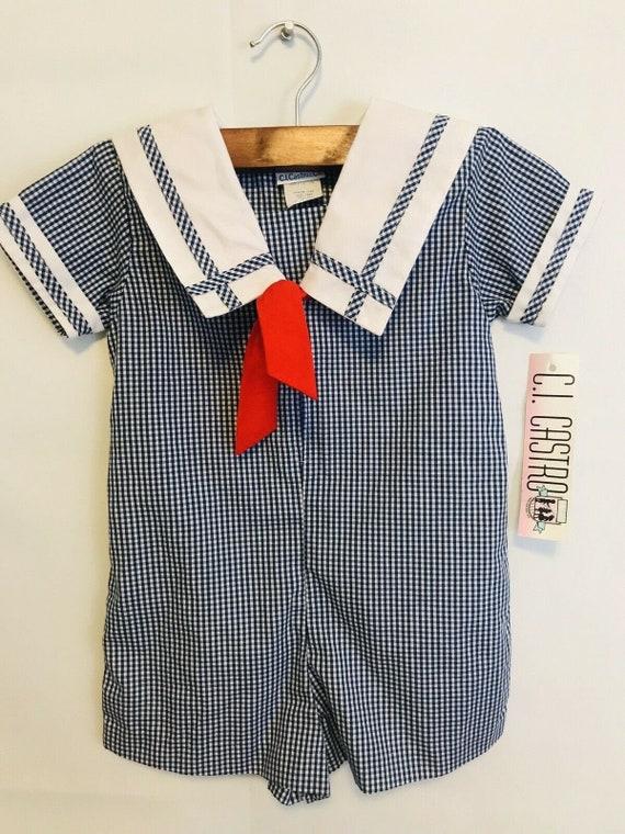 Baby Boys Sailor Suit, Vintage Baby Boys Sailor Ou