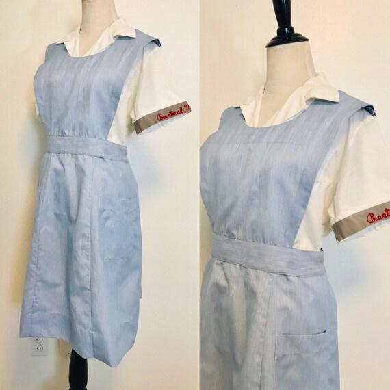 Vintage Dress, Vintage Nurse Uniform 1950s Dress a