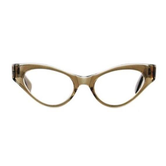 Tan Vintage Eyeglasses, Vintage 1960s Eyeglasses T