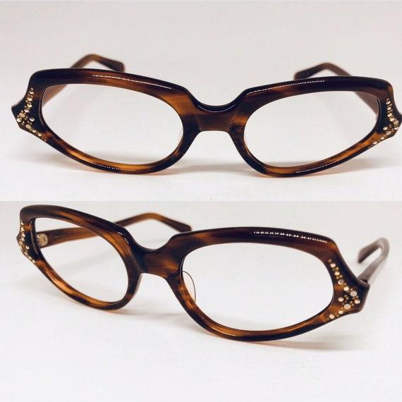 Vintage Rhinestone Eyeglasses Vintage 60s Eyeglass