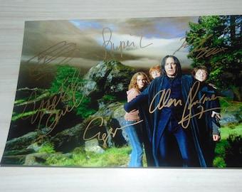 Authentic Harry Potter Signed Autographed Photograph Alan Rickman Daniel Radcliffe Grint