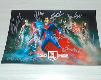 Authentic Justice League Signed Autographed Photograph Ben Affleck Gal Gadot
