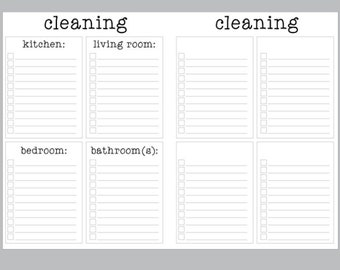 A6 RINGS Cleaning Insert | Printable Inserts