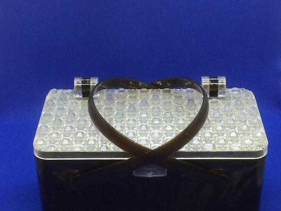 Vintage Tortoise Shell Lucite Handbag
