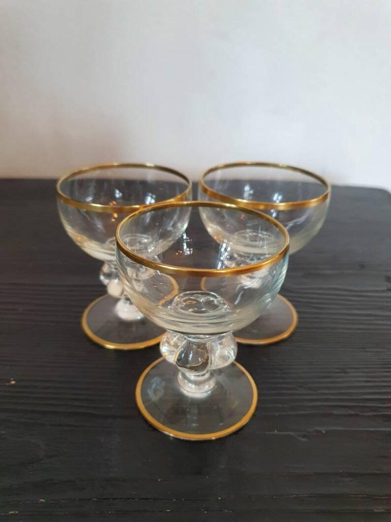 Beautiful Holmegaard Gisselfeld Liqueur Glasses
