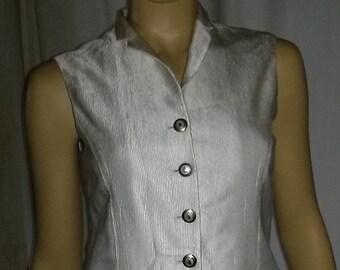 Women's Vest of Jobis-Gr. 38-Cream white-also to be worn as top