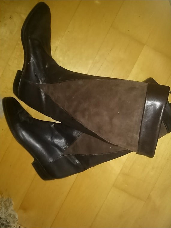 Brunella - high-quality leather boots - brown size