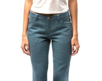 100% Hemp Jeans | Custom Jeans | Womens Jeans | Mid Waist Jeans | Vegan fashion