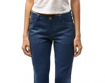 100% Hemp Jeans | Womens Jeans | Mid Waist Jeans | Blue Jeans | Custom Made