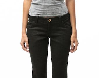 100% Hemp Jeans | Womens Jeans | Low Rise Jeans | Black Jeans | Custom Made