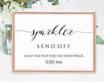 Sparkler send off | Etsy