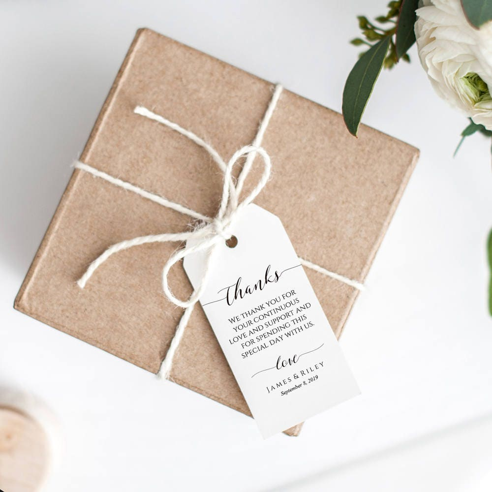 Thank You Tags Wedding Favor Tags Gift Tags Favor Tags