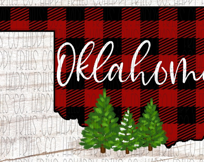 New Mexico buffalo plaid with Christmas tree outline png instant download Sublimate Design designs for sublimation