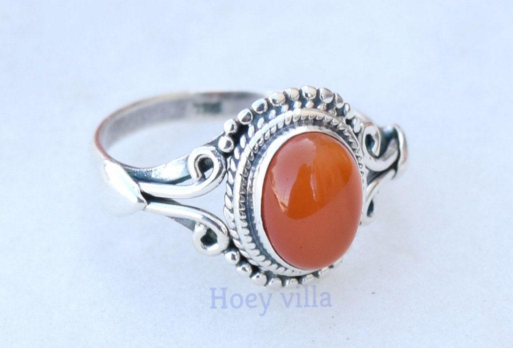 Carnelian Ring Size 10 12