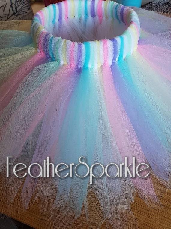 Floaty Multi skirt Rainbow Tutu Fun skirt Multicolour Rainbow skirt Dance tutu skirt. Rainbow inspired tutu skirt Party