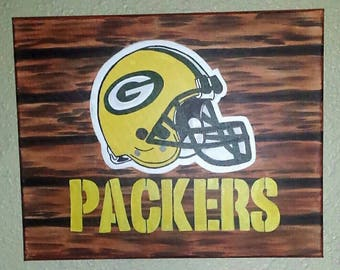 Hand Crafted Packers Painting
