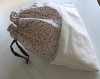 bag with polka dots
