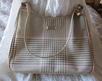 2a1b859406a0 Vintage Ralph LAUREN Houndstooth PURSE Casual Style Browns   Pink Ladies  Collectible Lightweight Versatile All Occasion Teens to Women Gift