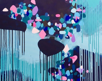 "40"" x 40"" Original Abstract Painting - Crystallised-I"