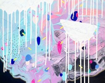 "24"" x 24"" Original Abstract Painting by Sarah McIntosh"