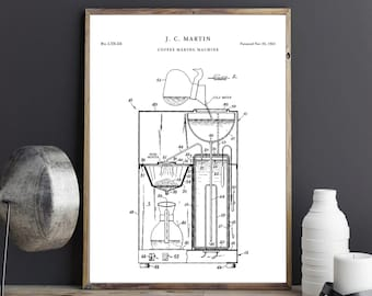 Coffee blueprint etsy coffee machine blueprint art printable coffee patent prints vintage poster printable kitchen wall art coffee gifts p724 malvernweather Gallery