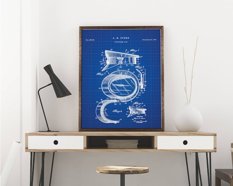 picture regarding Printable Police Hat called Law enforcement hat patent print artwork - Common printable patent poster art drawing - Prompt Electronic obtain - Wall artwork decor - Blueprint