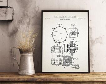 Leslie speaker leslie poster organ organ blueprint drum key holder patent prints drummer decor drum nursery teen room malvernweather Image collections
