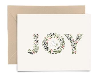 JOY Christmas Card | Christmas Greeting Card | Blank Note Card | Note Card | Seasons Greetings | Holiday Card