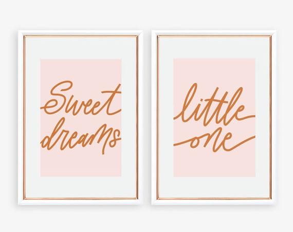 Sweet Dreams Little One - DIY Nursery Printable, Nursery Art, Digital Download Baby Room Decor, Home Decor, Nursery Wall Art Scandi Nursery