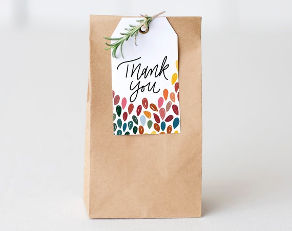 Thank You Rainbow Favor Tags - Party Favor Tags - Printable Favour Tags - Birthday Rainbow Favor Tags - Instant Download - Simple Tag