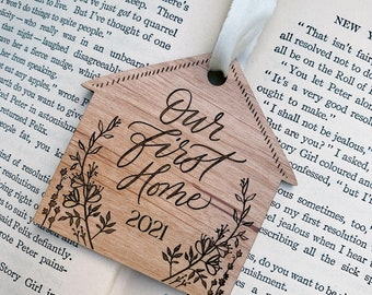 Our First Home Ornament - New Home Owners Christmas Gift - Housewarming Christmas Gift - Wedding Gift