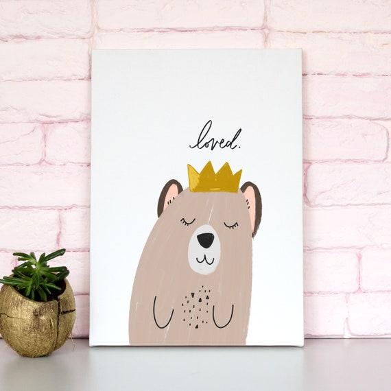 Love Bear Nursery Artwork - Nursery Print -Printable Nursery Art - Nursery Wall Art - Wall Decor - Play Room Wall Decor