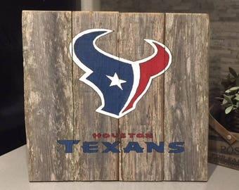 Rustic Houston Texans Sign