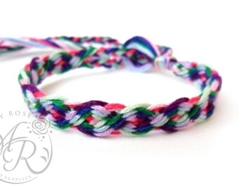 Chinese Braid Rainbow Friendship Bracelet