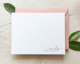 simple elegant personalized stationery featuring a modern etsy