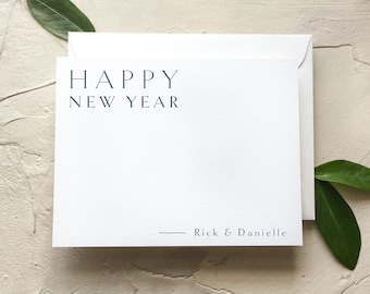 happy new year cards flat holiday notecards simple new year stationery q318 008