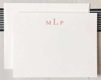 Simple Monogram Notecards - Classic Stationery - Personalized Note Cards - Simple Custom Gift [Q317-027]