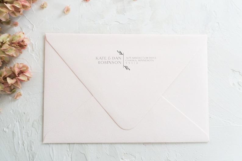 Personalized Return Address ST-07 Custom Wooden Stamp Return Address Rubber Stamp