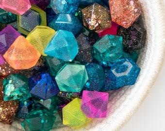 Resin Gems Jewels / Resin Letters / Sensory Play / Glitter / Sparkles / Rainbow