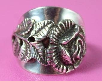 Ring 835 Silber Besteck Schmuck Ring ca. 52 165 Ring aus | Etsy