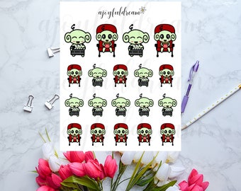 Space Monkey Goes to the Movies - Planner Stickers