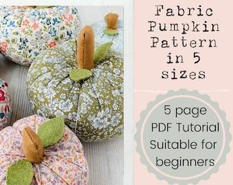 Fabric Pumpkin PDF Pattern Tutorial