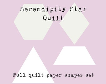 Full Paper Pieces Kit - Serendipity Star Quilt