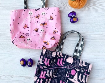 Pretty PINK Trick or Treat Tote Bag