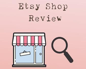 Etsy Shop Review