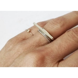 Ring available in all sizes Minimalist Sleek Silver Ring Stackable Fine Silver Ring Barr Silver Ring