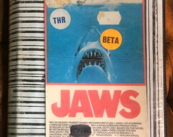 Original JAWS movie on BETAMAX tape 1975